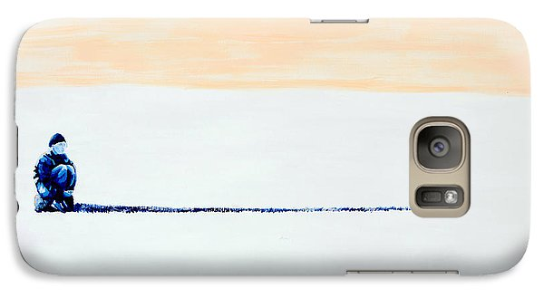 Galaxy Case featuring the painting Quiet by Denise Deiloh