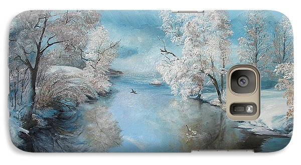 Galaxy Case featuring the painting Quiet Ice  by Sorin Apostolescu