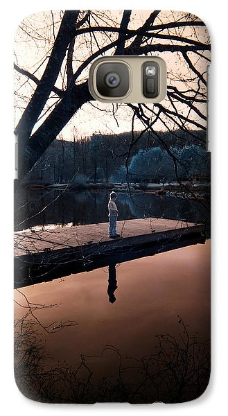 Galaxy Case featuring the photograph Quiet Moment Reflecting by Rebecca Parker
