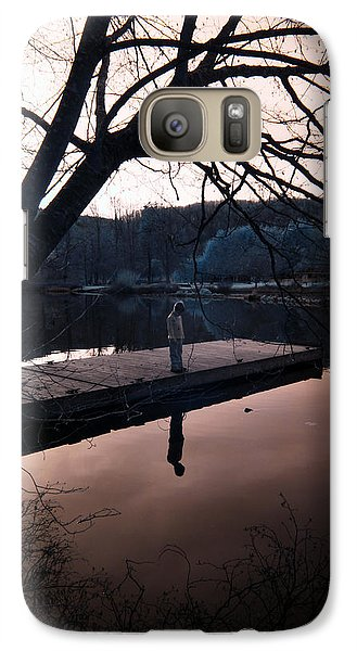 Galaxy Case featuring the photograph Quiet Moments Reflecting by Rebecca Parker