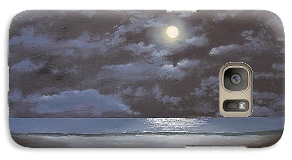 Galaxy Case featuring the painting Quiet Moon by Ken Ahlering