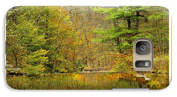 Galaxy Case featuring the photograph Quiet Pond In Autumn Pocono Mountains Pennsylvania by A Gurmankin