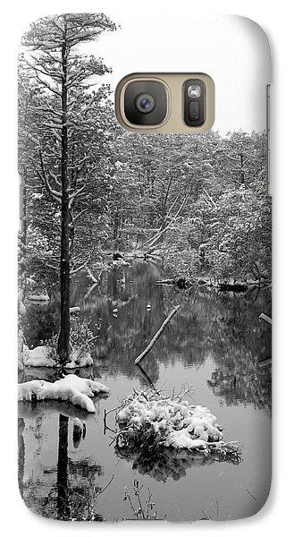 Galaxy Case featuring the photograph Quiet Stram After The Snowstorm by Allen Beilschmidt