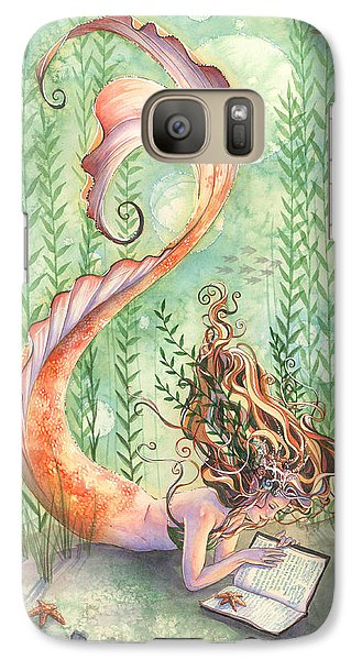 Goldfish Galaxy S7 Case - Quiet Time by Sara Burrier