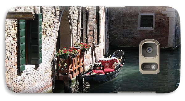 Galaxy Case featuring the photograph Quiet Venice Parking Place by Michael Helfen