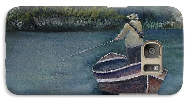 Galaxy Case featuring the painting Quietude by Jan Cipolla