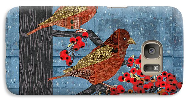 Galaxy Case featuring the digital art Sage Brush Sparrow In Rain by Kim Prowse