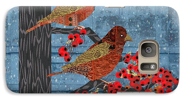 Galaxy Case featuring the digital art Sagebrush Sparrow Short by Kim Prowse