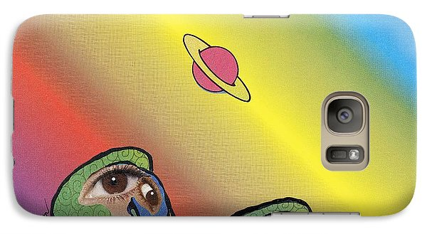Galaxy Case featuring the mixed media Quirky Birds by Douglas Fromm