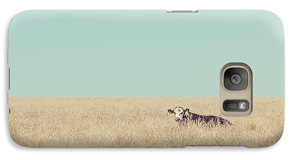 Galaxy Case featuring the photograph Quite Happy Where She Was by Takeshi Okada