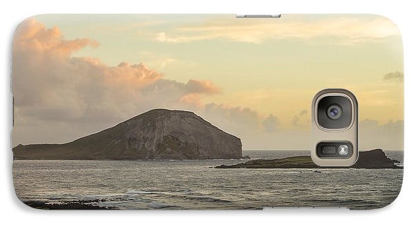 Galaxy Case featuring the photograph Rabbit And Turtle Island At Sunrise 1 by Leigh Anne Meeks