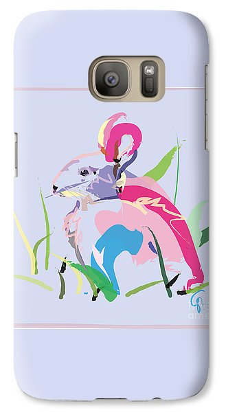 Galaxy Case featuring the painting Rabbit - Bunny In Color by Go Van Kampen