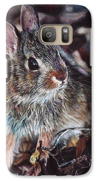 Galaxy Case featuring the painting Rabbit In The Woods by Joshua Martin