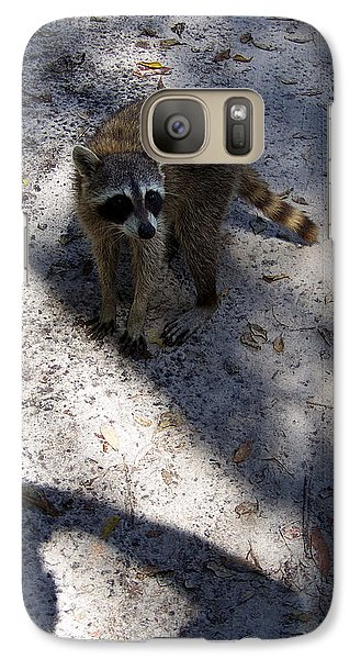 Galaxy Case featuring the photograph Raccoon 0311 by Chris Mercer