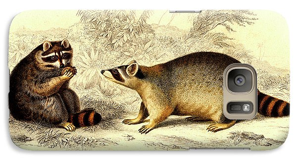 Raccoons Galaxy Case by Collection Abecasis