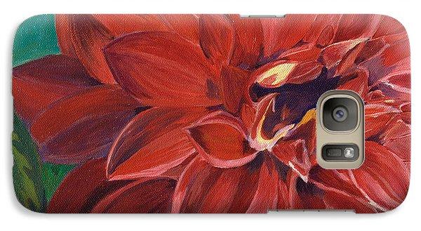 Galaxy Case featuring the painting Rachael's Dahlia by Jodi Terracina