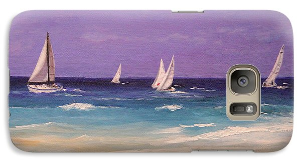 Galaxy Case featuring the painting Racing The Wind by Janet Greer Sammons