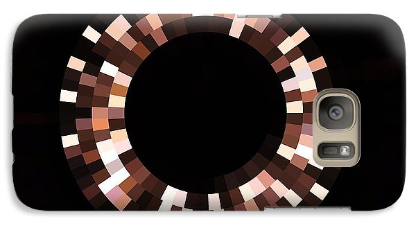 Galaxy Case featuring the photograph Radial Mosaic In Brown by Todd Soderstrom