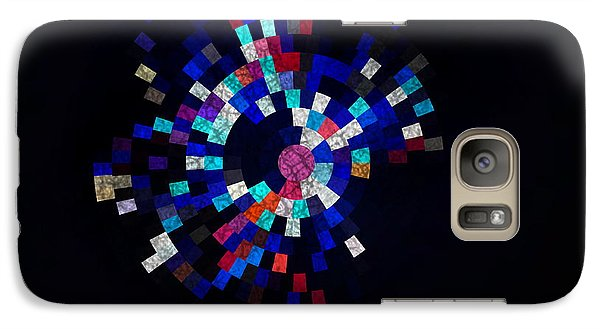 Galaxy Case featuring the photograph Radial Mosaic In Red White And Blue by Todd Soderstrom