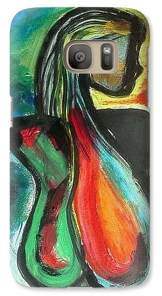 Galaxy Case featuring the painting Radiant by Carol Duarte