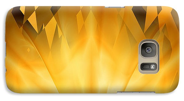 Galaxy Case featuring the digital art Radiant Gold by rd Erickson