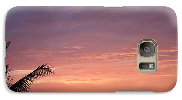 Galaxy Case featuring the photograph Radiant Sunset by Karen Nicholson