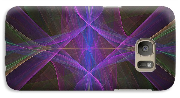 Galaxy Case featuring the digital art Radiant Veils by Ursula Freer