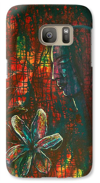 Galaxy Case featuring the painting Radiating Light by Mini Arora