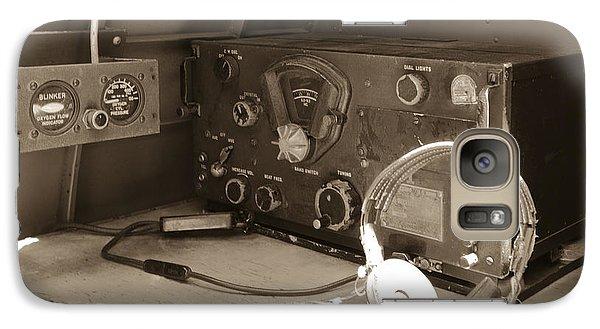 Galaxy Case featuring the photograph Radio Desk  by Wayne Meyer