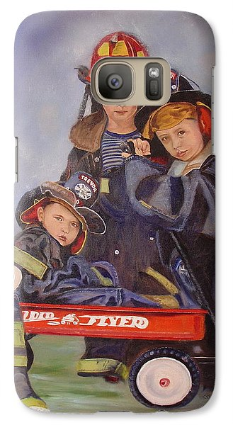 Galaxy Case featuring the painting Radio Flyer by Sharon Schultz