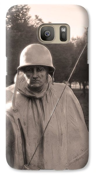 Galaxy Case featuring the photograph Radio Telephone Operator Soldier by Nicola Nobile