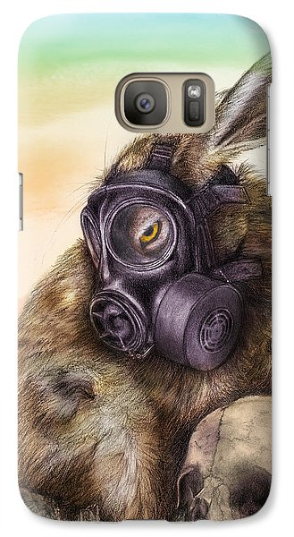 Galaxy Case featuring the drawing Radioactive - Color by Penny Collins