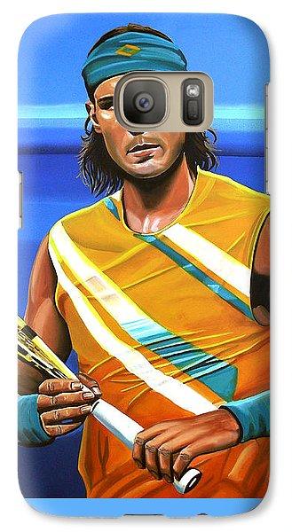 Rafael Nadal Galaxy S7 Case by Paul Meijering