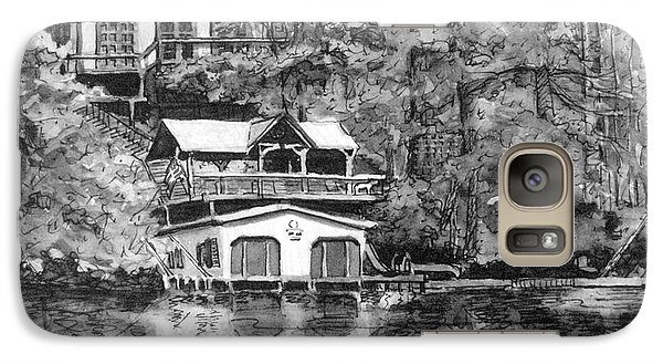 Galaxy Case featuring the painting Ragan's Lake Rabun Home by Gretchen Allen