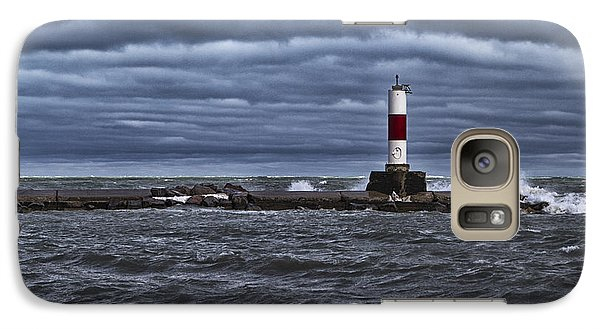 Galaxy S7 Case featuring the photograph Raging Lake Michigan  by Ricky L Jones