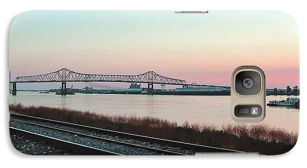Galaxy Case featuring the photograph Rail Along Mississippi River by Charlotte Schafer