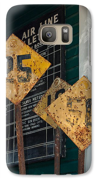 Galaxy Case featuring the photograph Rail Signs by Randy Sylvia