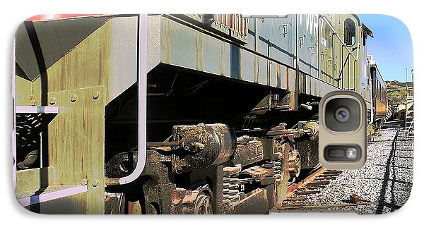 Galaxy Case featuring the photograph Rail Truck by Michael Gordon