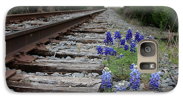 Galaxy Case featuring the photograph Railroad Bluebonnets by Jerry Bunger