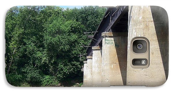 Galaxy Case featuring the photograph Railroad Bridge by John Mathews