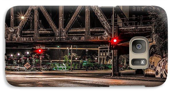 Galaxy Case featuring the photograph Railroad Bridge by Ray Congrove
