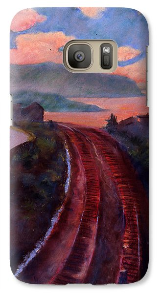Galaxy Case featuring the pastel Railroad by Susan Will
