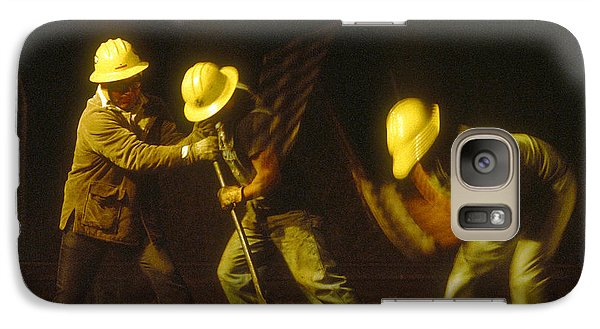 Galaxy Case featuring the photograph Railroad Workers by Mark Greenberg