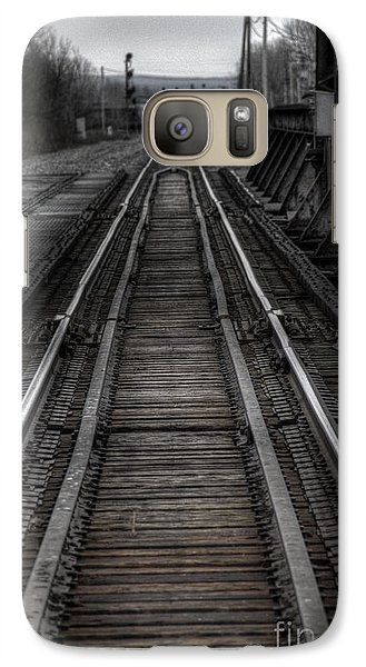 Galaxy Case featuring the photograph Rails by Jim Lepard