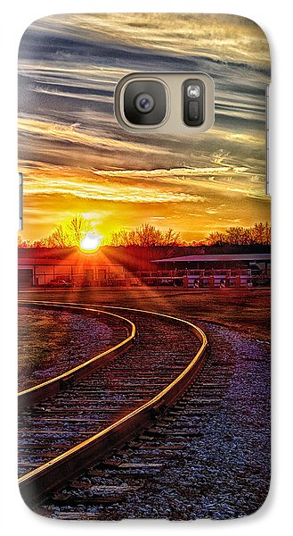 Galaxy Case featuring the photograph Rails by Skip Tribby