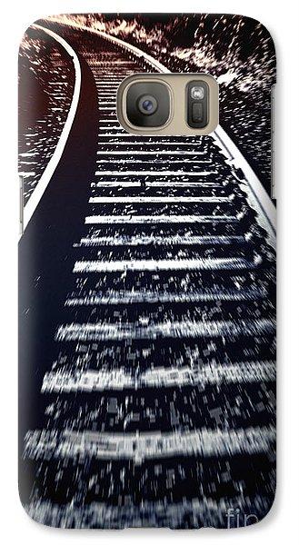Galaxy Case featuring the photograph Railtrack by Craig B