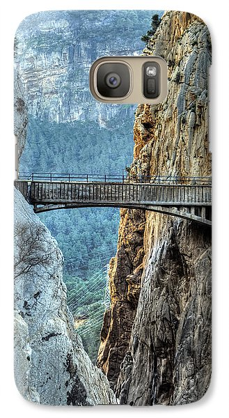 Galaxy Case featuring the photograph Railway Bridge In El Chorro by Julis Simo