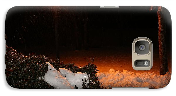 Galaxy Case featuring the photograph Rain And Snow by Paul SEQUENCE Ferguson             sequence dot net