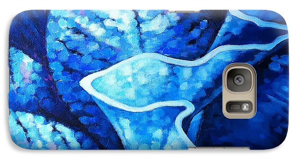 Galaxy Case featuring the painting Rain by Angela Treat Lyon