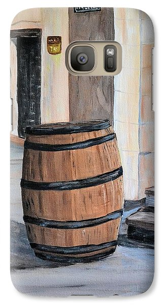Galaxy Case featuring the painting Rain Barrel by Debbie Baker
